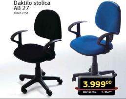 Daktilo stolica AB27