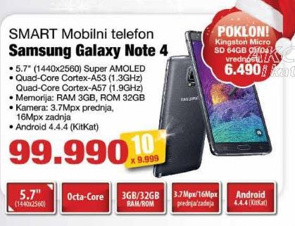 Mobilni telefon Galaxy Note 4