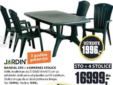 Baštenski sto Mandal Jardin