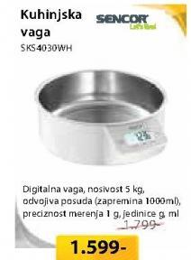 Kuhinjska Vaga SKS4030wh