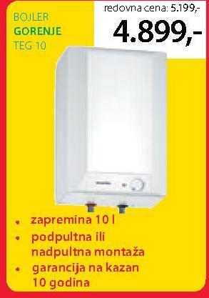 Bojler TEG 10