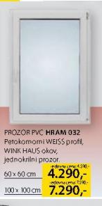 Prozor PVC, Hram 032, 100x100cm