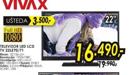 Televizor LED LCD TV 22LE70