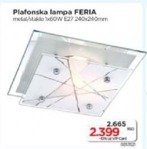 Plafonska lampa Feria
