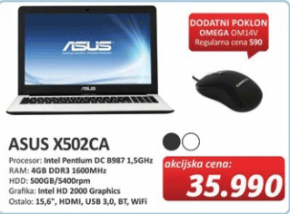 Laptop X502CA