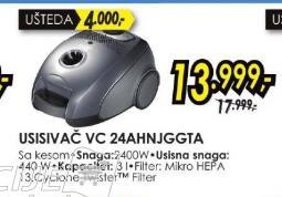 Usisivač VC 24AHNJGGTA