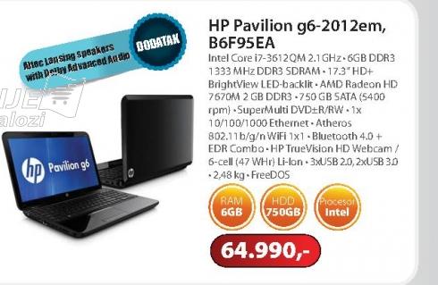 Laptop Pavilion g6-2012em B6F95EA