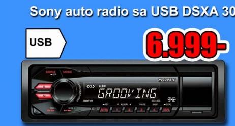 AUTO RADIO SA USB DSXA 30
