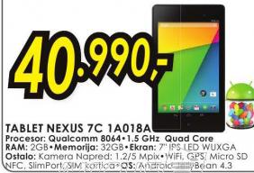 Tablet  NEXUS 7C 1A018A