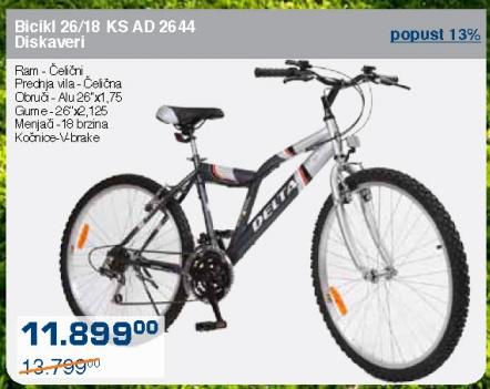 Bicikl 26/18 KS AD 2644 Diskaveri