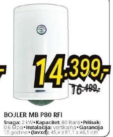 Bojler Mb P80 Rfi