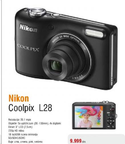 Fotoaparat digitalni Coolpix L28