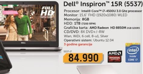Laptop Inspiro 15r 5537-i7