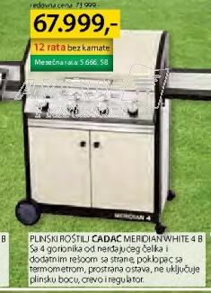 Plinski roštilj MERIDIAN WHITE 4 B