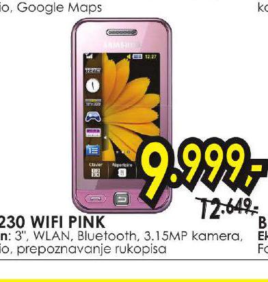 Mobilni Telefon S5230 WIFI PINK