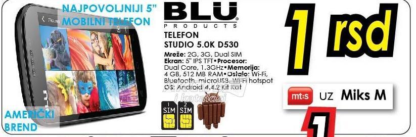 Mobilni telefon Studio 5.0k D530