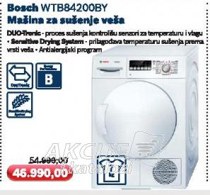 Mašina za sušenje veša WTB84200BY