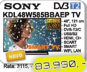 "Televizor LED 48"" Kdl48w585bbaep"