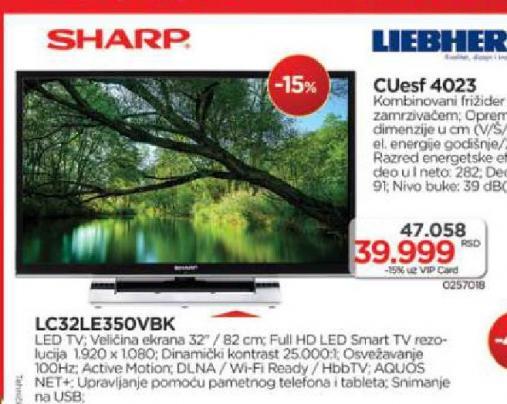 Televizor LED LC32LE350VBK