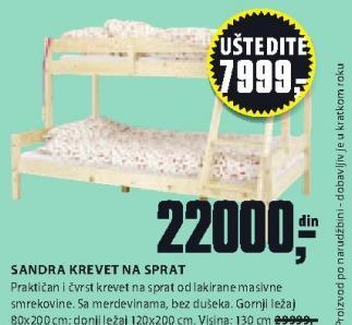 Krevet na sprat Sandra