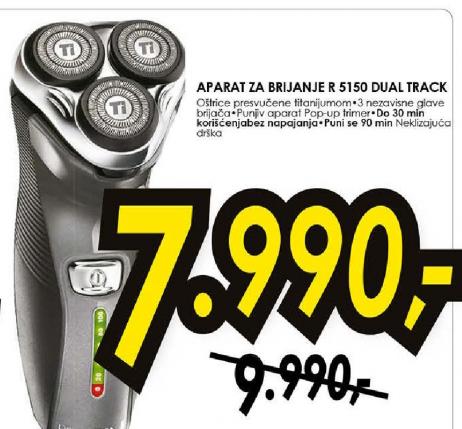 Aparat za brijanje R5150 Dual Track