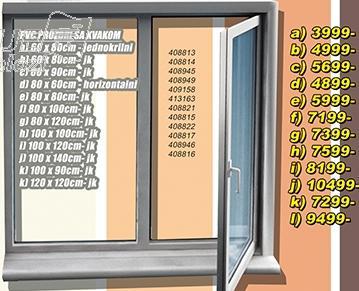 Prozor PVC sa kvakom 100x100 jk