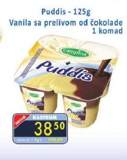 Puding vanila sa prelivom od čokolade