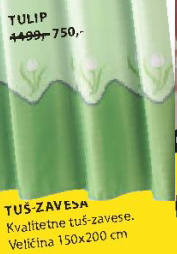 Tuš zavesa Tulip
