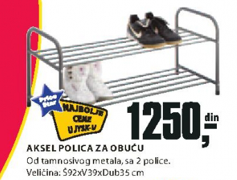 Polica Aksel za obući