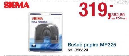Bušač papira Mp325