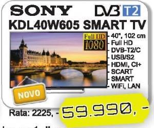 """Televizor LED 40"""" Kdl40w605"""