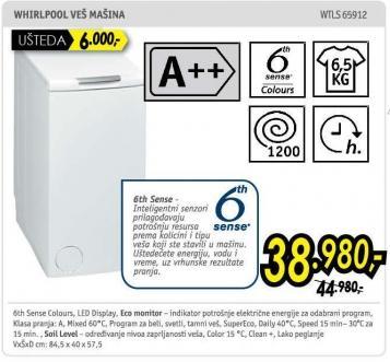 Mašina za pranje veša Wtls 65912