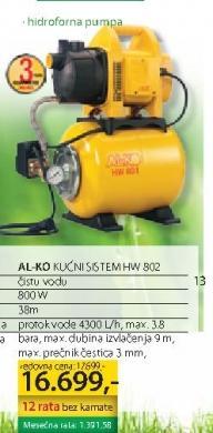 Hidroforna pumpa HW802