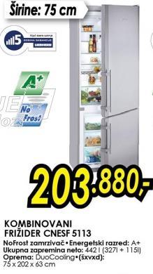 Kombinovani frižider Cnesf 5113