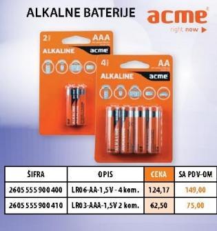 Alkalne baterije Lr06