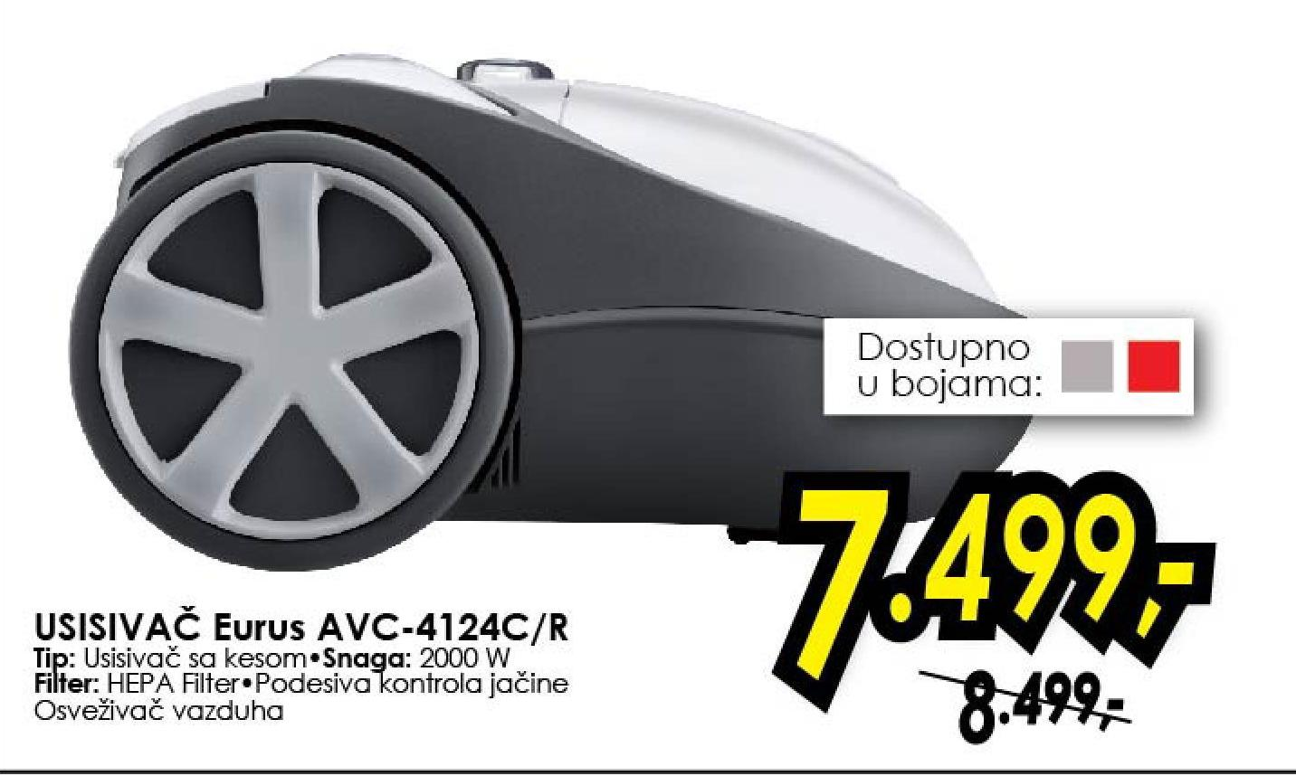 Usisivač AVC-4124C/R