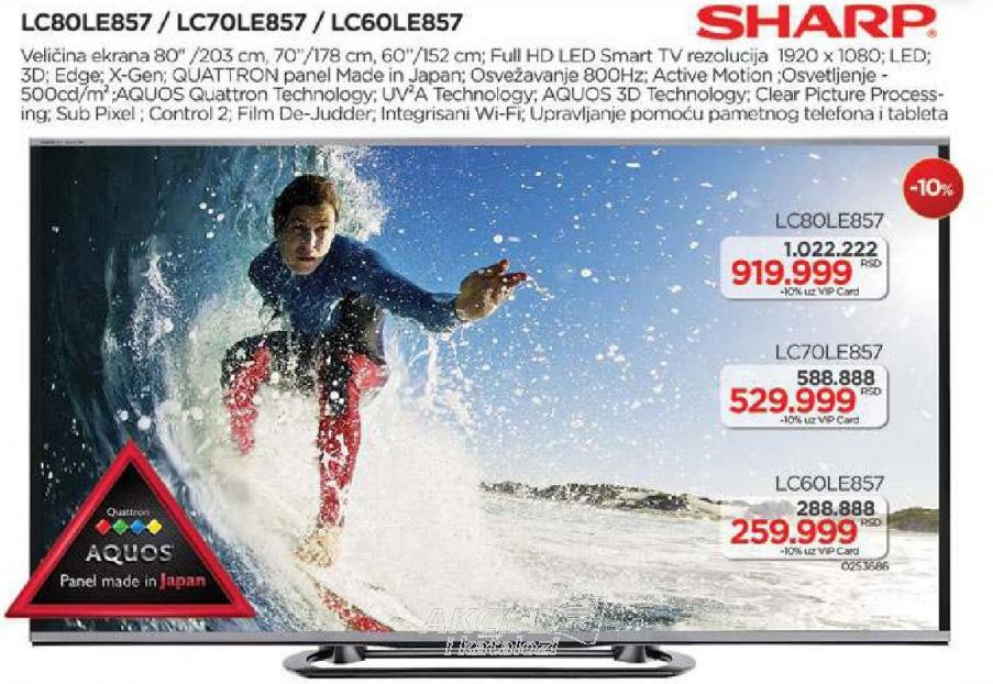 "Televizor LED 60"" Lc60le857"