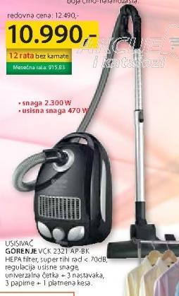 Usisivač VCK 2321 AP-BK