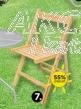 Stolica drvena na rasklapanje