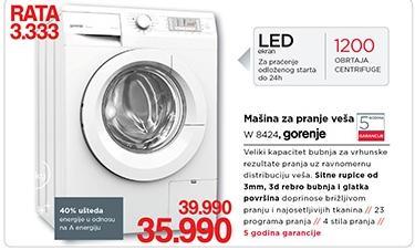 Mašina Za Pranje Veša W 8424