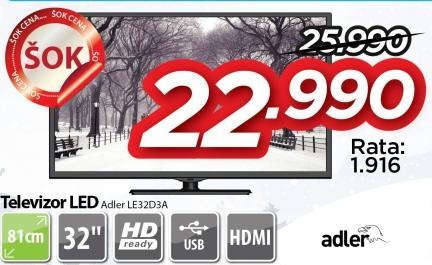 """Televizor LED 32"""" Le32d3a"""