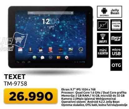 Tablet Texet TM-9758