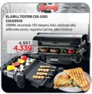 Električni grill toster CSS-5302
