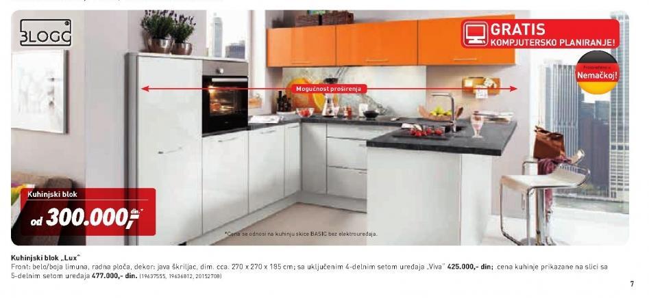 Kuhinjski blok Lux