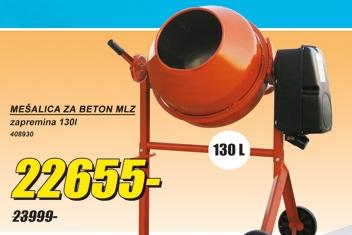 Mešalica za beton 130L