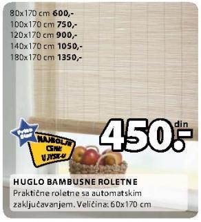 Bambusne roletne Huglo 180x170 cm