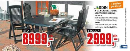 Baštenski sto Wellington