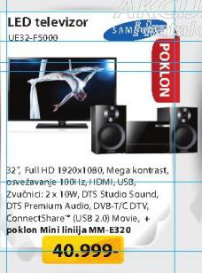 Televizor LED Samsung UE32-F5000 +Poklonmini linija MME320
