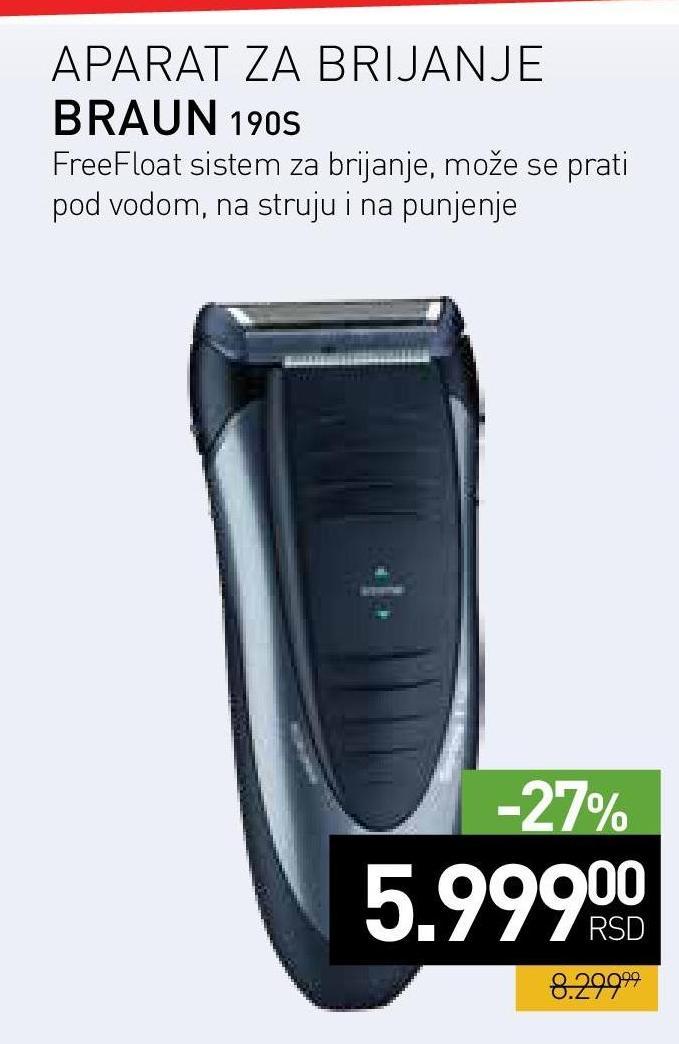 Aparat za brijanje 190s