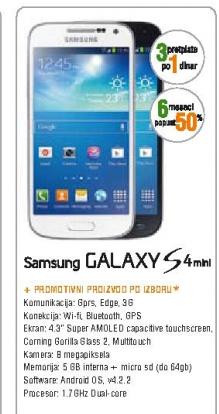 Telefon mobilni GALAXY S 4 mini